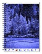 Holiday Greetings - Vail - Colorado Spiral Notebook