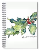 Holiday Holly Spiral Notebook