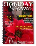Holiday Home Magazine Cover Spiral Notebook