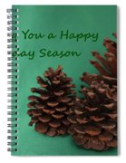 Holiday Pine Cones Spiral Notebook