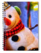 Holiday Snowman Spiral Notebook