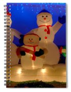 Holiday Snowmen 2 Spiral Notebook