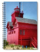 Holland Harbor And Big Red Spiral Notebook