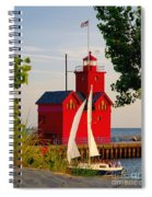 Holland Lighthouse Spiral Notebook