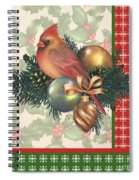 Holly And Berries-c Spiral Notebook