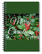 Holly Berries Merry Christmas Spiral Notebook