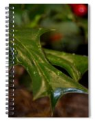 Holly Leaf Abstract Spiral Notebook