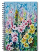 Hollyhocks  Spiral Notebook