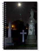 Hollywood Cemetery Moon Burst Spiral Notebook