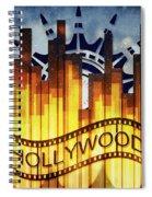 Hollywood Gold Spiral Notebook