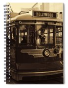 Hollywood Trolley Spiral Notebook