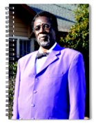 Hollywood Wearing His Dress Suit And Bow Tie Color Photo Usa Spiral Notebook