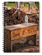 Holt Cemetery - God Is Love Bench Spiral Notebook
