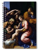 Holy Family Known As The Grande Famille Of Francois I, 1518 Oil On Canvas Spiral Notebook