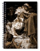 Holy Family Nativity - Color Monochrome Spiral Notebook
