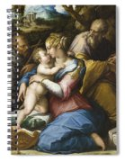Holy Family With Saint Francis In A Landscape Spiral Notebook