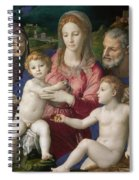 Holy Family With St. Anne And The Infant St. John Spiral Notebook