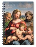 Holy Family With The Infant St. John The Baptist And St. Francis Spiral Notebook