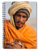 Holy Saffron Spiral Notebook