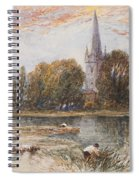 Holy Trinity Church On The Banks If The River Avon Stratford Upon Avon Spiral Notebook