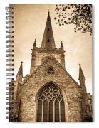Holy Trinity Stratford On Avon Sepia Spiral Notebook