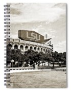 Home Field Advantage - Sepia Toned Texture Spiral Notebook