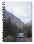 Home In The Mountains Spiral Notebook