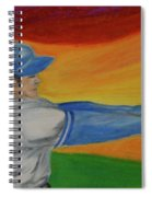 Home Run Swing Baseball Batter Spiral Notebook