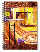 Home Sweet Home Decorative Design Welcoming One Spiral Notebook