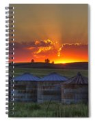 Home Town Sunset Panorama Spiral Notebook