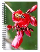 Honey Bee At Work Spiral Notebook