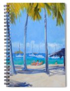 Honey Moon Beach Day Spiral Notebook