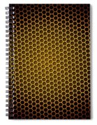 Honeycomb Background Spiral Notebook