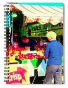 Honeycrisp Apples Fruit Stand Marcel Les Pommes St Joseph Du Lac  Food Art Scenes Carole Spandau Spiral Notebook