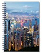 Hong Kong At Dusk Spiral Notebook