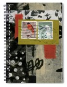 Hong Kong Postage Collage Spiral Notebook