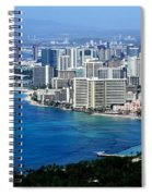 Honolulu And Waikiki From Diamond Head Spiral Notebook