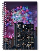 Honolulu Festival Fireworks Spiral Notebook