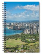 Honolulu From Diamond Head Crater Spiral Notebook