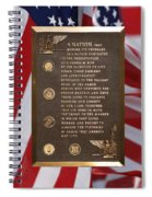 Honor The Veteran Signage With Flags 2 Panel Composite Digital Art Spiral Notebook