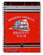 Honoring Americas Bravest Sept 11 Spiral Notebook