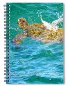 Honu Hawaiian Green Sea Turtle Spiral Notebook