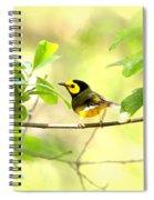 Hooded Warbler - Img_9274-007 Spiral Notebook