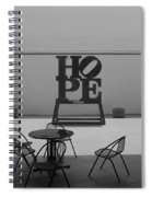 Hope And Chairs In Black And White Spiral Notebook