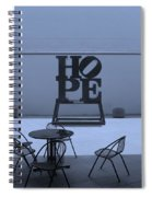 Hope And Chairs In Cyan Spiral Notebook