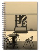 Hope And Chairs In Sepia Spiral Notebook