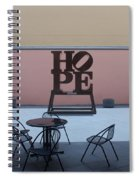 Hope And Chairs Spiral Notebook