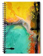 Hope - Colorful Abstract Art By Sharon Cummings Spiral Notebook