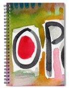 Hope- Colorful Abstract Painting Spiral Notebook