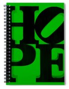 Hope In Green Spiral Notebook